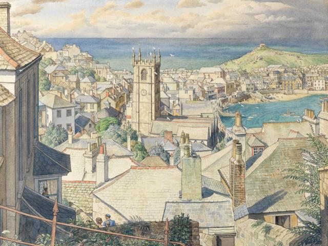 Stanley Roy Badmin R.W.S. (British, 1906-1989) St. Ives, Cornwall