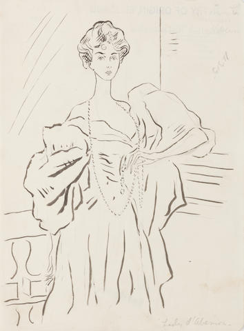 Cecil Beaton (British, 1904-1980) Lady D'Abernon, After Sargent (unframed)