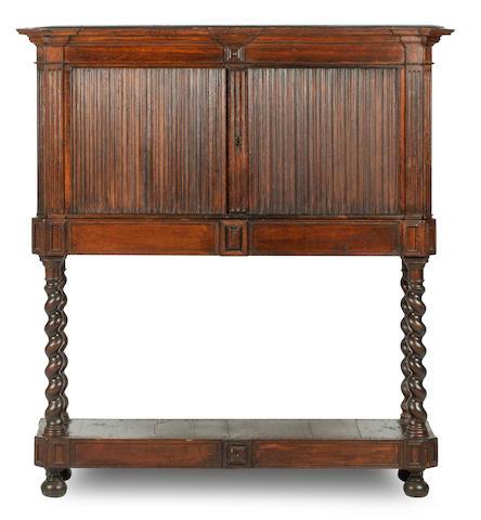Of Sir Walter Scott interest: A 19th century oak bookcase cabinet