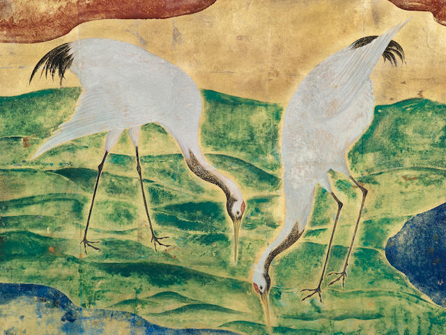LÉONARD TSUGUHARU FOUJITA (1886-1968) Les grues (Executed in 1920)