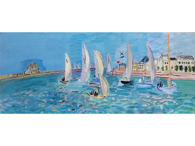 RAOUL DUFY (1877-1953) Le retour des régates (Painted in Deauville in 1933)
