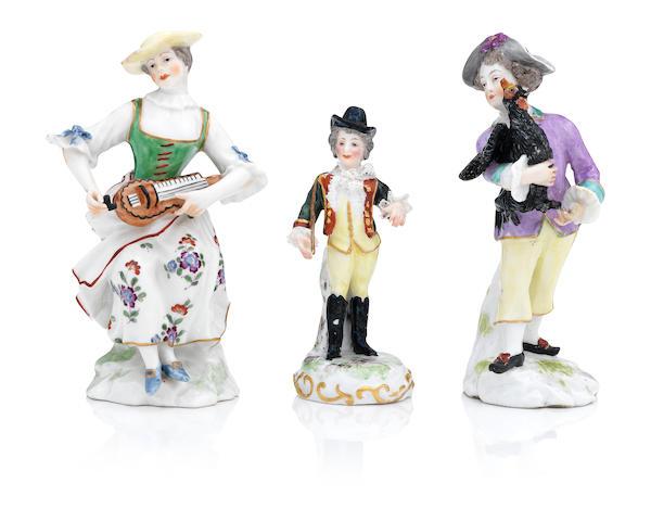 Three continental figures 19th century