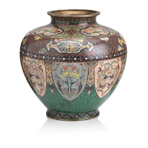 A cloisonné-enamel vase Style of Namikawa Yasuyuki, Meiji era
