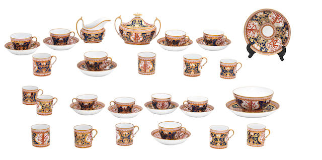 An English porcelain part tea and coffee service Circa 1830