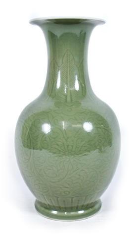 A celadon-glazed vase 20th century
