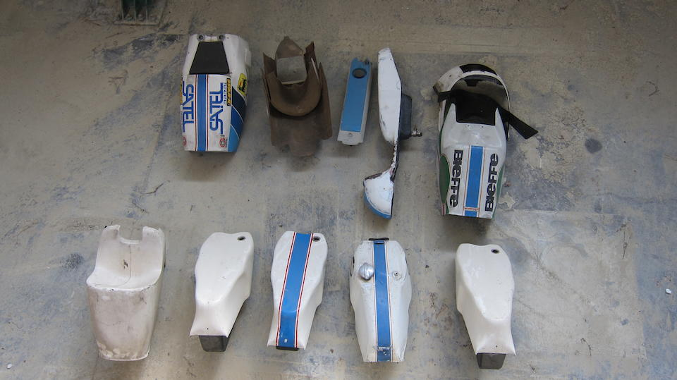 A large quantity of Morbidelli Grand Prix fairings, bodywork and petrol tanks  ((Qty))