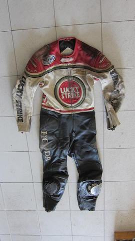 A set of Fieldsheer Racing Motorcycle Leathers