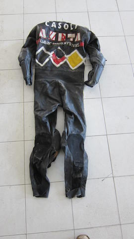 A set of Dainese Racing Motorcycle Leathers
