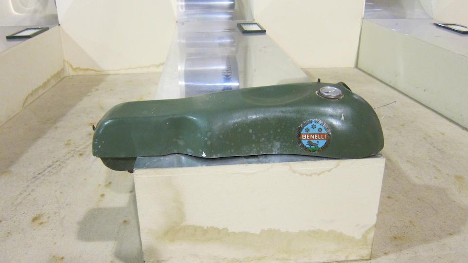 A Benelli fibreglass racing petrol tank