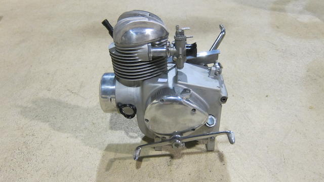 An unidentified motorcycle engine/gearbox unit
