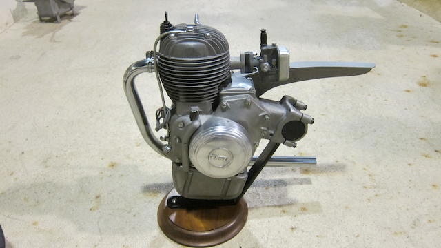 A Motomic clip-on motorcycle engine