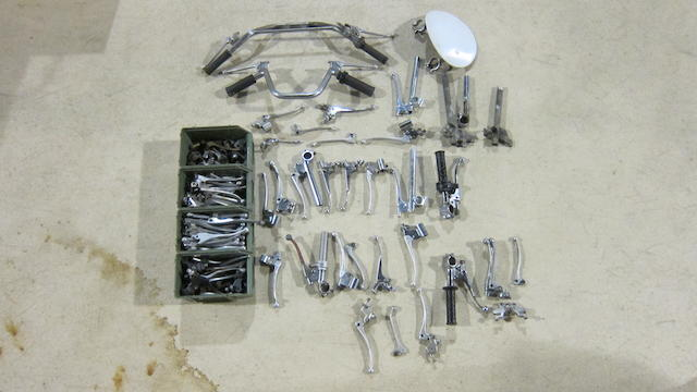 A large quantity of motorcycle handblebars and levers  ((Qty))