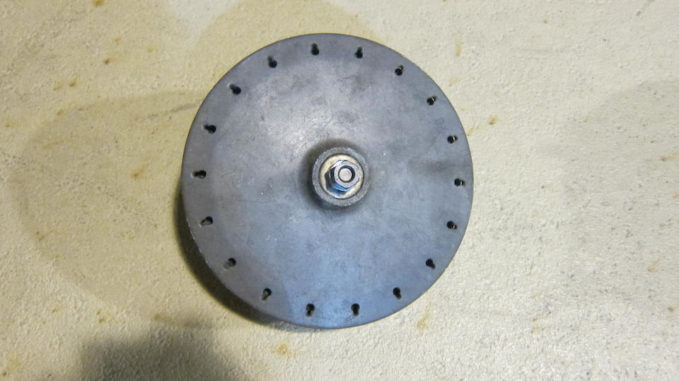 An unidentified believed racing motorcycle rear hub
