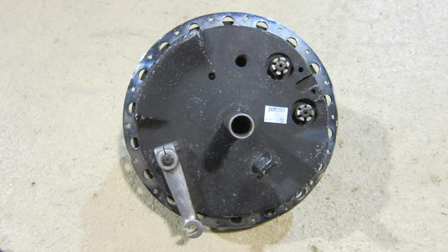 A believed racing motorcycle front hub