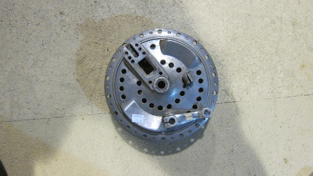 An unidentified believed racing motorcycle front hub