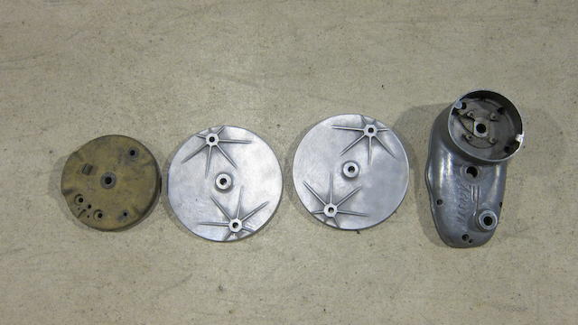 Three believed racing brake plates  ((4))