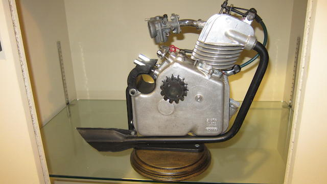 A Ducati Cucciolo clip-on engine