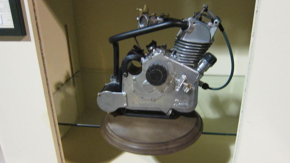 A Ducati Cucciolo clip-on engine
