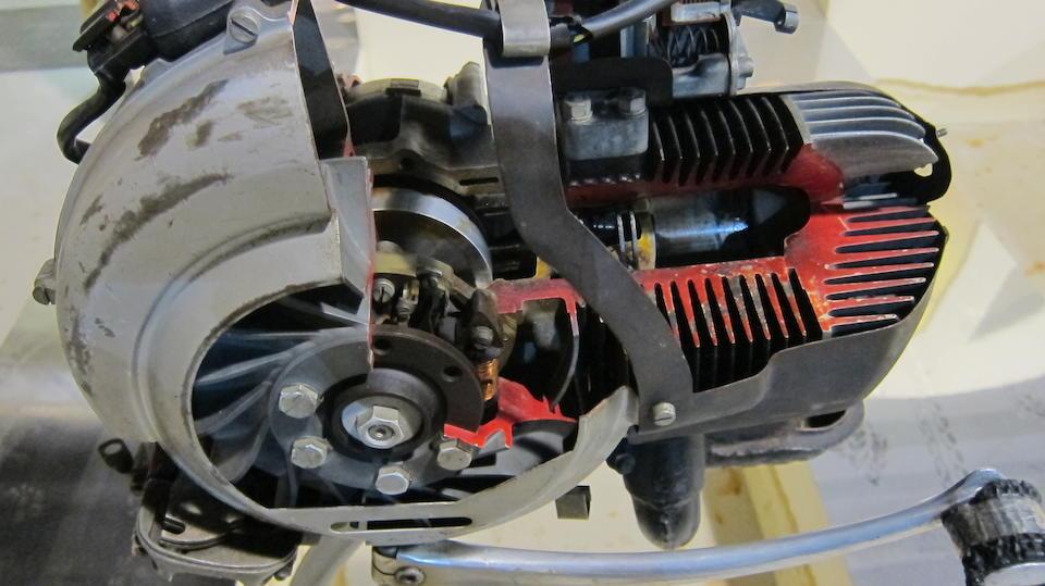 A Piaggio cutaway engine