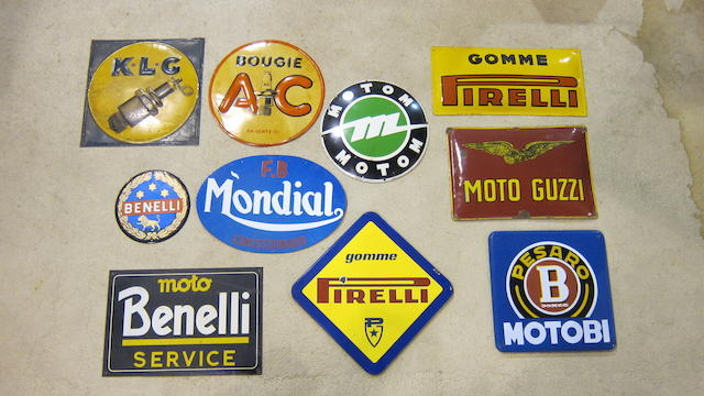 A quantity of proprietary advertising signs  ((Qty))