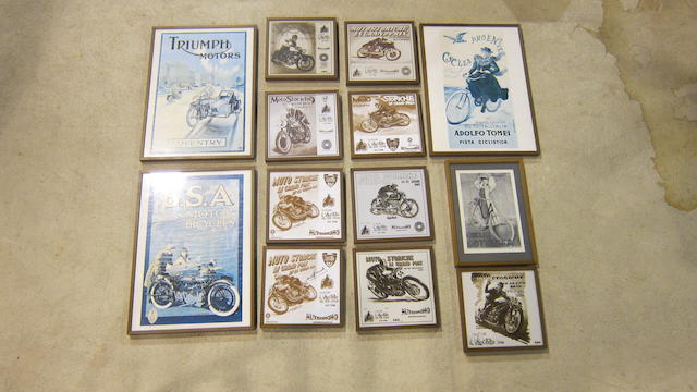 A quantity of reproduction advertising images  ((Qty))