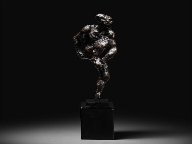 AUGUSTE RODIN (1840-1917) Nijinsky 17.6cm (6 15/16in). high (Conceived in 1912, this bronze version cast in December 1958 by the Georges Rudier Foundry in an edition of 13.)