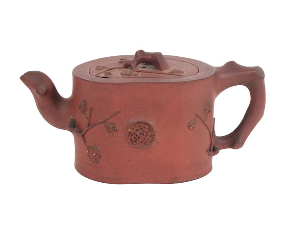 A yixing teapot and cover (2)
