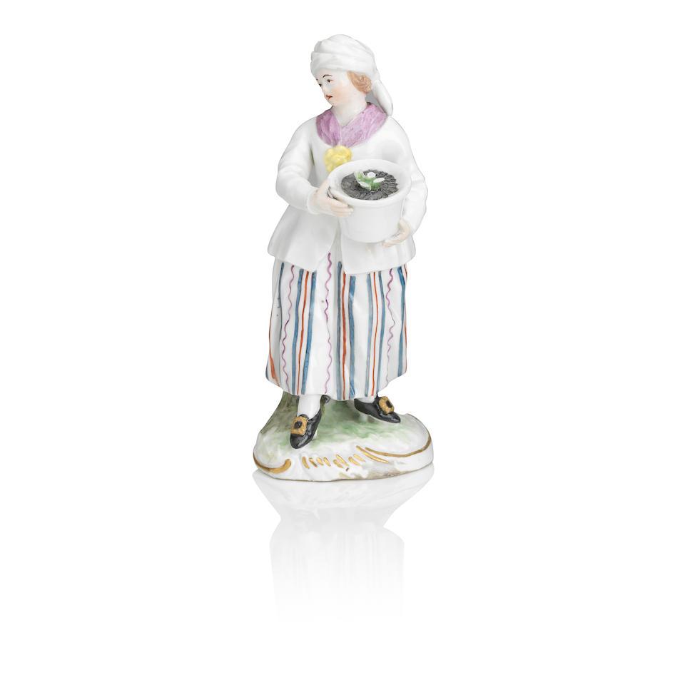 Three German porcelain figures 19th century