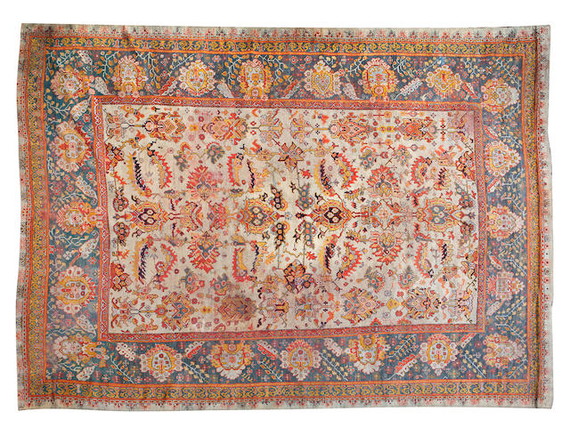 A large Ushak carpet 445 x 575cm