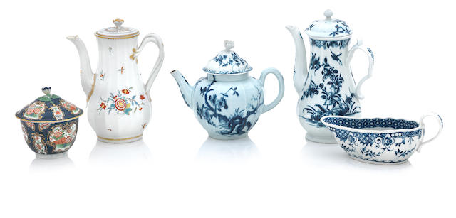 A group of Worcester porcelain 18th century