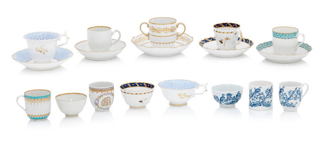 A collection of English teaware Late 18th/19th century