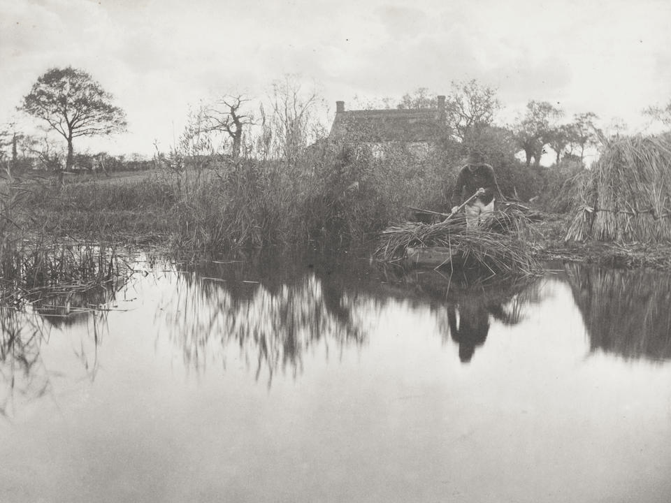 EMERSON (PETER HENRY) AND T.F. GOODALL Life and Landscape on the Norfolk Broads... With General and Descriptive Text, FIRST EDITION, LIMITED TO 200 COPIES, half-title, title printed in red and black, 34 PLATINUM PHOTOGRAPHS (of 40), each mounted on card as issued, Sampson, Low, [1886]