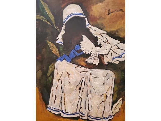 Maqbool Fida Husain (Indian, 1913-2011) Mother Teresa