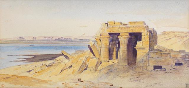 Edward Lear (British, 1812-1888) Kom Ombo, Egypt