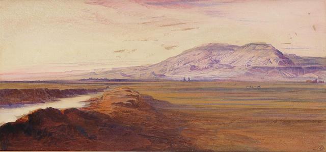 Edward Lear (British, 1812-1888) Plain of Thebes, Egypt