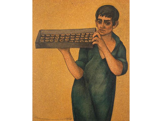 Louay Kayyali (Syria, 1934-1978) The Cake (Kaak) Seller