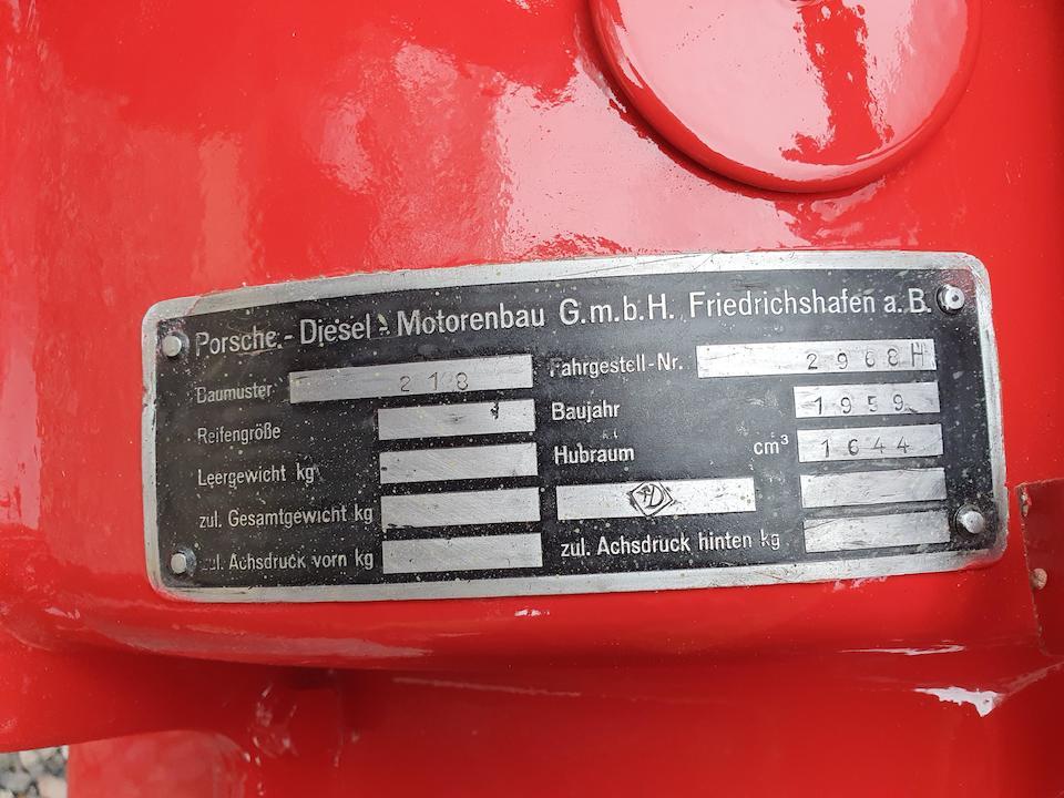 1959 Porsche 218 Standard  Chassis no. TBA