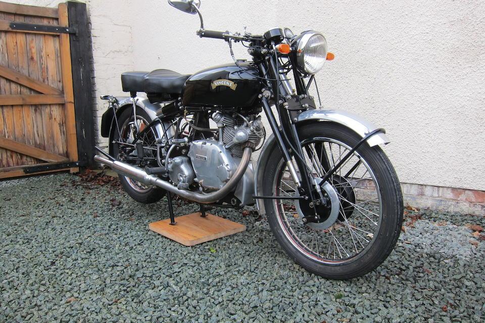Property of a deceased's estate,1950 Vincent 499cc Comet  Frame no. RC/1/7001 Rear Frame no. RC/1/7001 Engine no. F5AB/2A/5101 Crankcase nos. 66 O/66 O
