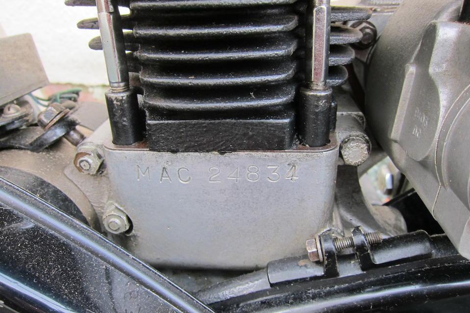 Property of a deceased's estate, 1957 Velocette 349cc MAC Frame no. RS9306 Engine no. MAC24834