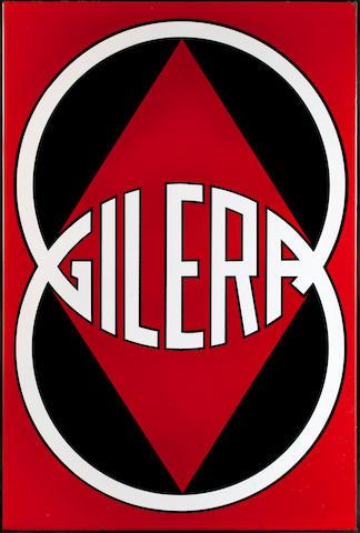 A Gilera enamel sign