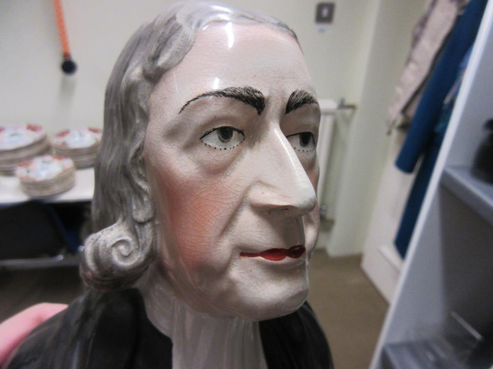 An Enoch Wood bust of the Reverend John Wesley Circa 1830