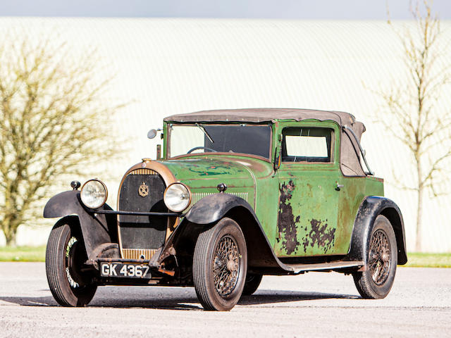 1930 Hotchkiss A80 Riviera Faux Cabriolet  Chassis no. 22126