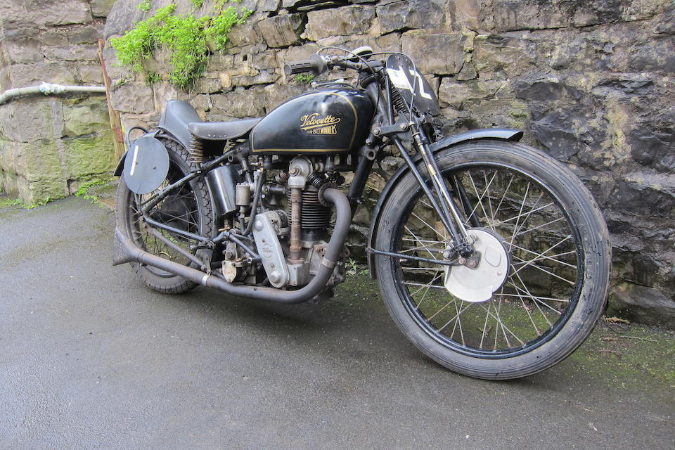 1932 Velocette 348cc KTT  Frame no. KX4107 Engine no. KTT346