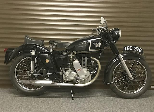 1950 Matchless 348cc G3L Frame no. 53252 Engine no. 50/SG3L 13701