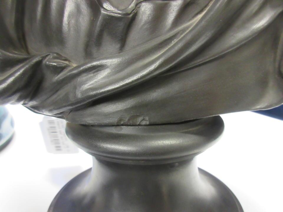 A Wedgwood black basalt bust of Virgil 19th century