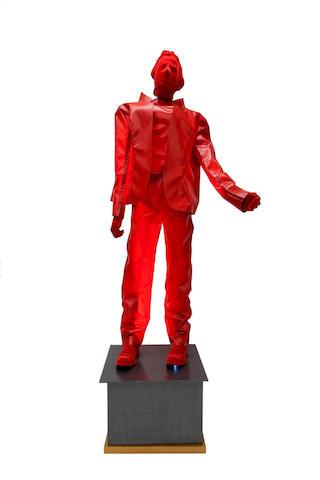 George Lappas (Greek, 1950-2016) Red Man  234 x 87 x 65 cm. (with loose)
