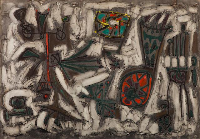 Nikos Kessanlis (Greek, 1930-2004) Fiori 69 x 100 cm.