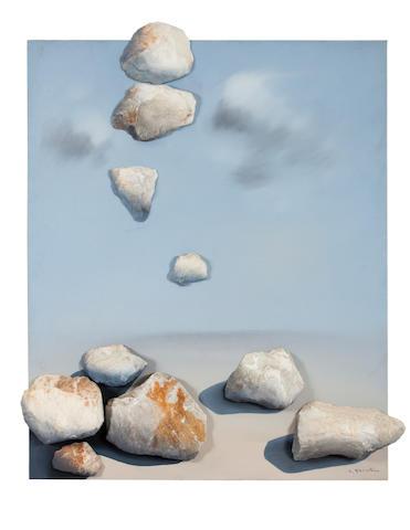 Costas Tsoclis (Greek, born 1930) Rocks 143 x 119 x 15 cm. (Executed in 1999.)