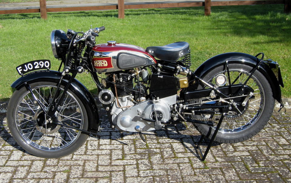 1937 Vincent-HRD 500cc Series-A Comet Frame no. D1428 Engine no. C494