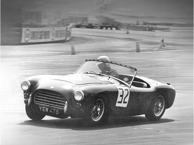 The ex-John Fellows Lord de Ramsey, Neil McNab of Farnborough Racing Enterprises, Neil Corner and period Goodwood, Silverstone, Crystal Palace, Snetterton and Mallory Park entrant,1959 AC Ace-Bristol Roadster  Chassis no. BE 1038